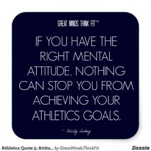 Athletics #Quote 5: Attitude for Success #Sticker
