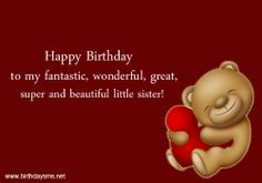 Funny Happy Birthday Quotes For Younger Sister