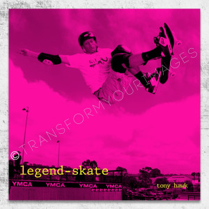 tony hawk quote square wall art