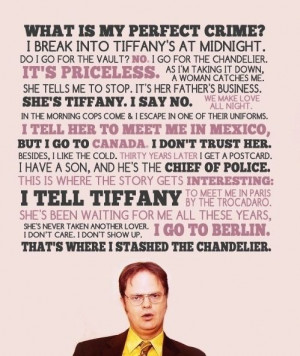 Dwight Schrute Quote art. @Gary Meadowcroft Meadowcroft Gilmore