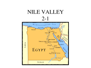 nile river valley civilization map