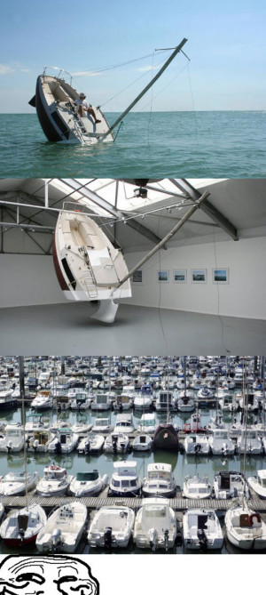 Funny photos funny sinking boat troll face