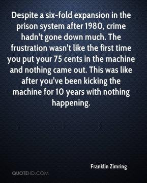 Franklin Zimring - Despite a six-fold expansion in the prison system ...