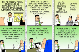 Dilbert - Financial Model for Career Advancement