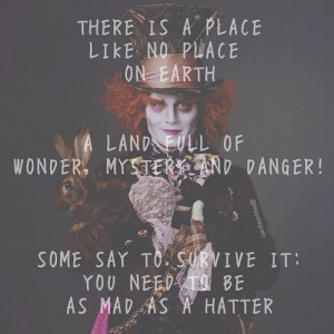 Mad Hatter Quotes Tumblr Mad hatter quo