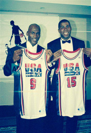michael jordan 15 magic johnson of the usa 1992 dream team dream on