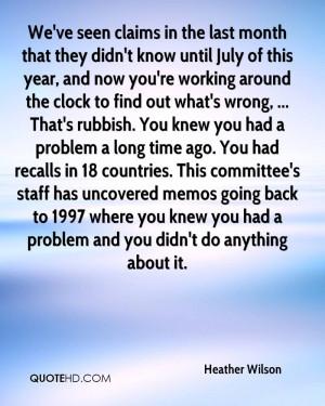 Heather Wilson Quotes