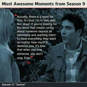 Aww.. Ted Mosby Quote.