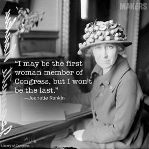 March 4, 1917: Jeannette Rankin was the first Woman to join U.S ...