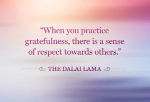 Dalai Lama gratitude quote