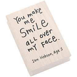 Inkadinkado Kid Quotes 'Smile All Over' Rubber Stamp