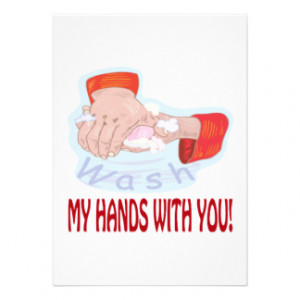 Wash My Hands With You Personalized Invitation