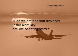 airplane, clouds, cool, photography, quote, sepia, sky, stars, sun ...