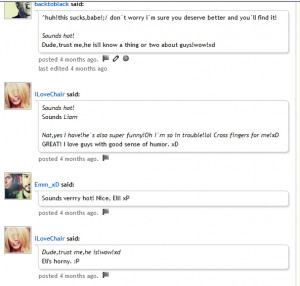 ... longer BUT I did find the convo that earned me teh 'horny' title.LMAO