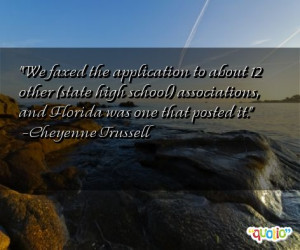... state high school ) associations, and Florida was one that posted it