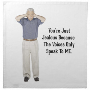 The Voices - Funny Sayings Quotes Printed Napkin