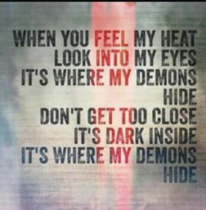 demons, imagine dragons, lyrics, quote, radioactive, song