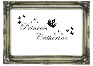 Quotes Your Own Name Princess 2 White Wall Murals