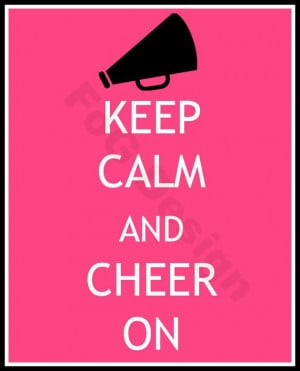 Keep Calm and Cheer On - Cheerleader Digital Print in any Color on ...