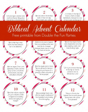 Biblical Advent Calendar free printable by Double the Fun Parties ...