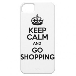 Keep calm and shopping funny mall money spend spe iPhone 5 covers