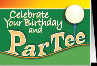 Golf Birthday ParTee Par Tee card - Product #772377