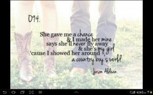 Gotta love the country song quotes :)