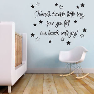 ... Twinkle-Quote-Baby-Nursery-Boys-Room-Wall-Sticker-Decal-Vinyl-Wall-Art