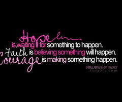 ... Is Believing Something Will Happen Courage Is Making Something Happen