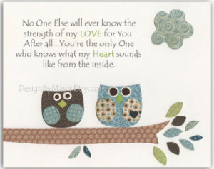 Boy Baptism Decor - Owl Decor Print Featuring Two Cute Owls & a Quote ...