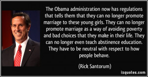 can no longer promote marriage as a way of avoiding poverty and bad ...