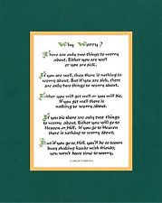 Collection of Irish Sayings, Poems, Humor Item # 204 Why Worry
