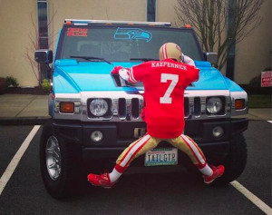 Seahawks Fans Wins At Life With Car Decoration