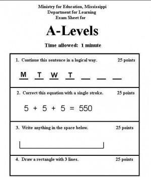 Redneck college exam