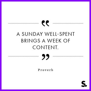 sunday well-spent brings a week of content. Proverbs in time