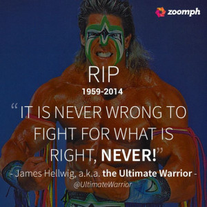 ... Ultimate Warrior RIP and thank you for everything #WWE #WWF #