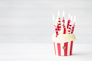 Happy Birthday – Cupcakes with Candles, Cute Images