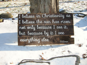 CS Lewis quote on wood sign Literary quote Scripture art Christian ...