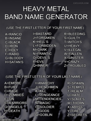 Learn your Heavy Metal name