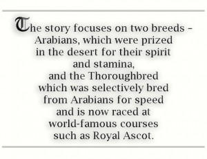 British Museum celebrates the Arabian and Thoroughbred horse.
