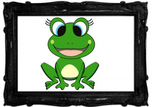 Happy Frog Ready To Leap White
