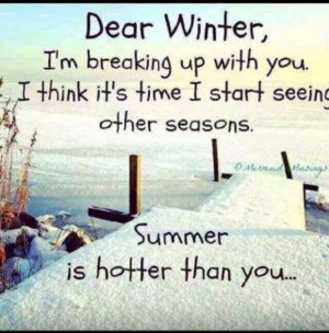 Winter quote ha ha winter and New years