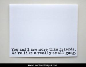 Small friendship ...