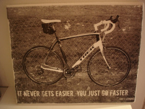 ... bike. Quote he picked,