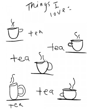 love cute life health happiness tea