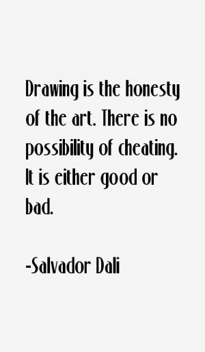Drawing is the honesty of the art. There is no possibility of cheating ...