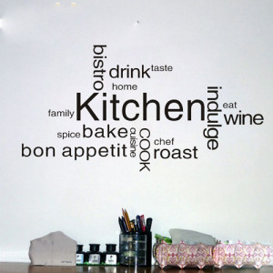 Removable Home Quotes Kitchen Decor Kitchen Wall Decals