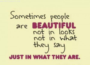 Download Sometimes people are beautiful - Heart touching love quote