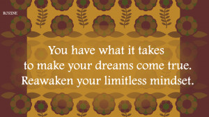 Limitations live only in our minds. But if we use our imaginations ...