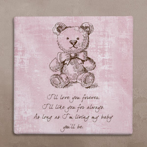 Wall art canvas, Wall canvas quote, Nursery quote art canvas, Teddy ...